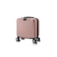 迷你行李箱小型旅行箱万向轮女18寸拉杆箱16寸登机箱轻便密码箱男 拉链哑光款 「 耐磨」【银灰色】 18寸