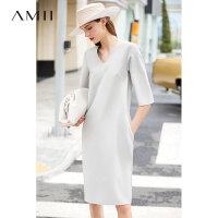 Amii�O��赓|�n版小心�CV�I�B衣裙夏新款雪�微���B衣裙