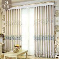欧式窗帘成品全遮光窗帘布简约现代卧室落地窗客厅平面窗阳台飘窗