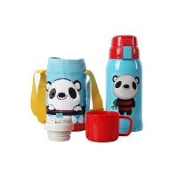 【当当自营】杯具熊(BEDDYBEAR) 复古版儿童保温杯带吸管 儿童水杯不锈钢 儿童保温壶600ml 蓝色熊猫