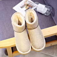 环球2017冬季新款短筒雪地靴女韩版百搭棉鞋加绒保暖学生秋冬短靴