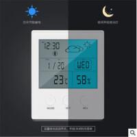 室内电子温湿度计 电子温湿度计白色