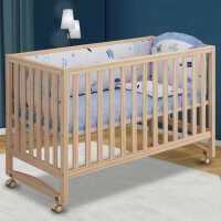 牧童坊婴儿床拼接大床实木多功能新生儿小床儿童可移动摇篮宝宝床
