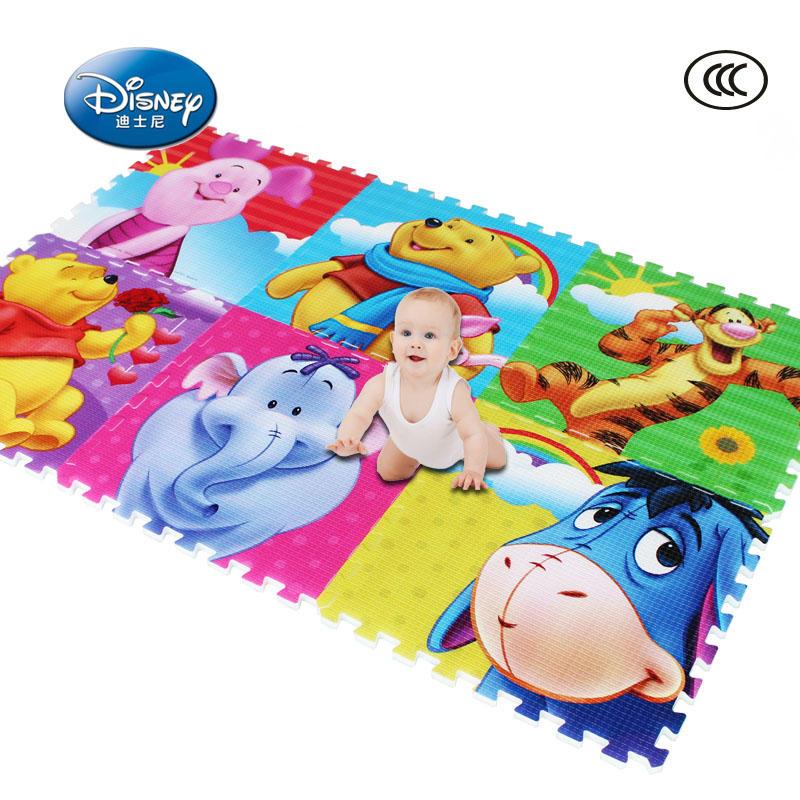 【领券立减50元】迪士尼宝宝爬行垫拼接拼图加厚2cm泡沫地垫60X60婴儿童环保爬爬垫地毯活动专属【领券立减50元】 儿童早教益智玩具大促