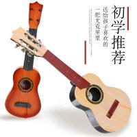 儿童吉他可弹奏四六弦玩具 男孩女孩尤克里里初学者仿真音乐乐器