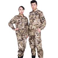 户外军迷服迷彩劳保工作服 运动作训服长袖套装 加厚 165 90-110斤