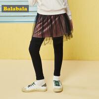 巴拉巴拉女童裤子秋装年新款儿童长裤打底裤女中大童温柔纱裙