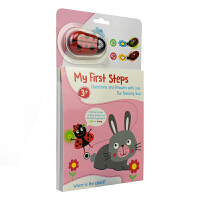My First Steps Rabbit我的步瓢虫宝贝游戏书小兔子英文原版进口图书儿童启蒙活动游戏书数字形状单词比大