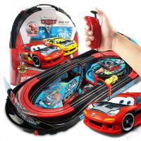 玩具小汽车电动遥控轨道车迷你小火车夜光轨道赛车便携式轨道盘