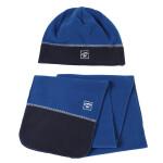 探路者TOREAD户外秋冬男女通用帽子和围巾保暖抓绒套装KELE90401