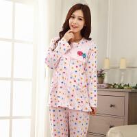 慈颜 孕妇装长袖家居服睡衣哺乳上衣月子服外出服喂奶衣FJC2880