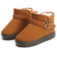 儿童雪地靴冬季棉鞋女童短靴男童防滑冬鞋棉靴子