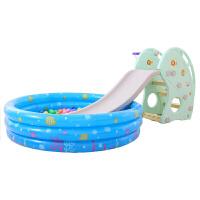 儿童室内滑梯家用多功能滑滑梯海豚加长宝宝组合滑梯秋千塑料玩具加厚