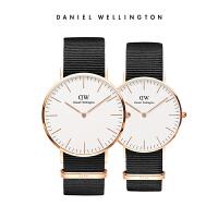 Danielwellington丹尼尔惠灵顿DW男女手表情侣对表黑色织纹石英表