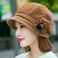 毛呢帽子女秋冬天羊毛贝雷帽盆帽渔夫帽韩版针织毛线帽八角帽英伦