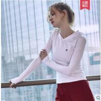 运动上衣女长袖瑜伽服女紧身衣女生户外新品训练跑步速干上衣健身服女