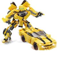 儿童积木玩具 变形金刚大黄蜂积木玩具汽车人模型男孩儿童礼盒装生日礼物