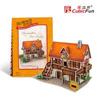 拼图儿童节礼物宝宝益智早教乐立方3D立体拼图 世界建筑纸质拼装模型DIY手工制作拼图 儿童拼图玩具