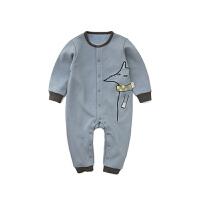 秋冬季男女宝宝绒厚款爬服婴儿保暖连体衣哈衣0-3岁