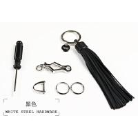 真皮汽车锁匙圈编织钥匙扣男女情侣羊皮创意刻字钥匙链流苏钥匙扣