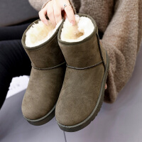 网红短靴女冬保暖雪地靴棉靴女靴百搭学生女鞋子