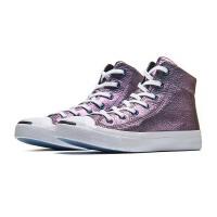 CONVERSE匡威女鞋帆布鞋2017新款牛皮中帮开口笑运动休闲鞋558873