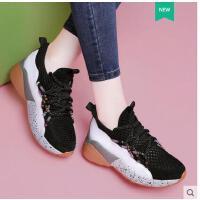 莫蕾蔻蕾新款韩版ulzzang原宿女跑步鞋ins超火的厚底运动鞋子老爹鞋ML8215