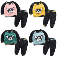 婴儿秋冬女童洋气套装6个月宝宝新生儿卫衣套