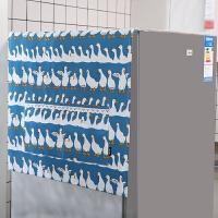 冰箱盖布单双对开门滚筒洗衣机罩床头柜盖巾布艺加厚防晒隔热防尘