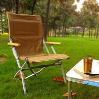 户外折叠椅野营烧烤便携椅子加厚沙滩休闲椅垂钓靠背椅 黑色 帆布椅+收纳带
