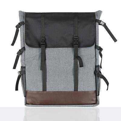 画包画袋美术画板袋 双肩4k加厚素描写生帆布美术袋 皮布拼接