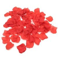 仿真花瓣玫瑰花假花瓣结婚婚房房间装饰婚礼床上布置用品婚庆用品 仿真玫瑰花瓣10袋(1000片)