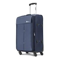 【支持礼品卡】USO帆布密码箱子万向静音轮行李箱男20寸拉杆箱24寸轻便旅行箱包 时尚女旅行箱