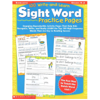 Scholastic 100 Write-and-Learn Sight Word Practice Pages Gra