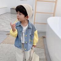 男童外套儿童中小童宽松时尚春秋牛仔上衣