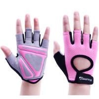 新款女士健身手套器械训练运动透气半指手套 动感单车女性锻炼单车房护掌户外运动