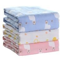 班杰威尔 婴儿浴巾纯棉 新生儿宝宝纱布吸水洗澡巾卡通6层毛巾被儿童盖毯