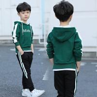 中大儿童连帽上衣男孩春秋运动韩版童装男童卫衣春装