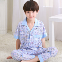 儿童中大童睡衣男童12-15岁 纯棉秋款春秋季夏天全棉薄款长裤