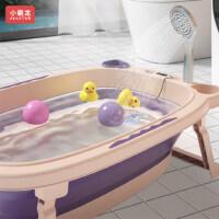 小霸龙婴儿浴盆洗澡盆宝宝浴盆用品新生幼儿家用大号加厚可坐可躺