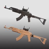 儿童玩具下供弹水弹枪KA47男孩电动连发可发射水晶弹枪手动步枪D