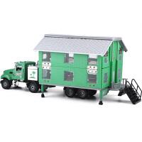 1:50双层变形房车旅行车货车合金属小汽车模型玩具车