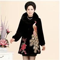 中年女冬装棉衣30-40-50岁2017新款棉袄妈妈秋冬外套婆婆奶奶