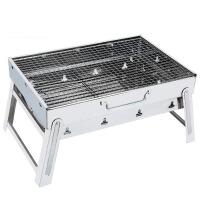 不锈钢烧烤炉家用户外烧烤架 便携加厚折叠野外木炭烧烤工具全套