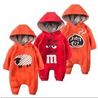 婴儿连体衣服0-1岁3个月女宝宝新生儿衣服春秋装冬季卫衣6外出服8