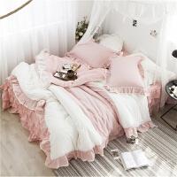 家纺纯棉公主风床裙式床单四件套双人全棉被套床上用品1.5m1.8m床被罩