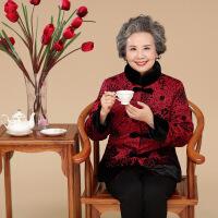 中老年人女装秋冬棉衣服装60-70岁妈妈装厚外套老人奶奶棉袄唐装