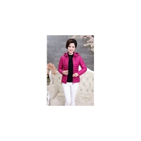 妈妈冬装时尚韩版中年女装小棉衣40岁50中老年羽绒外套短款潮