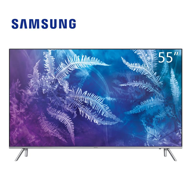 三星(SAMSUNG)QA55Q6FAMJXXZ 55英寸 QLED光质量子点 HDR 三面超窄边框 智能液晶电视 银色55英寸 4K超高清QLED量子点智能电视