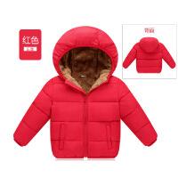 男童羽绒男女童棉袄宝宝加厚童装儿童羊羔绒棉衣外套